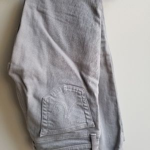 AG 25 gray wash skinny jeans